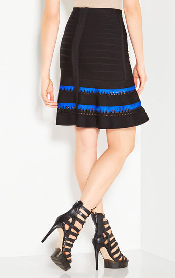 Casey Zigzag Cutout Detail Skirt