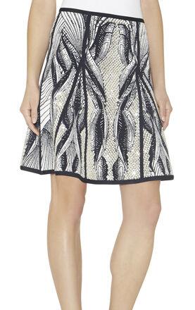 Kristina Batik-Lace Jacquard Skirt