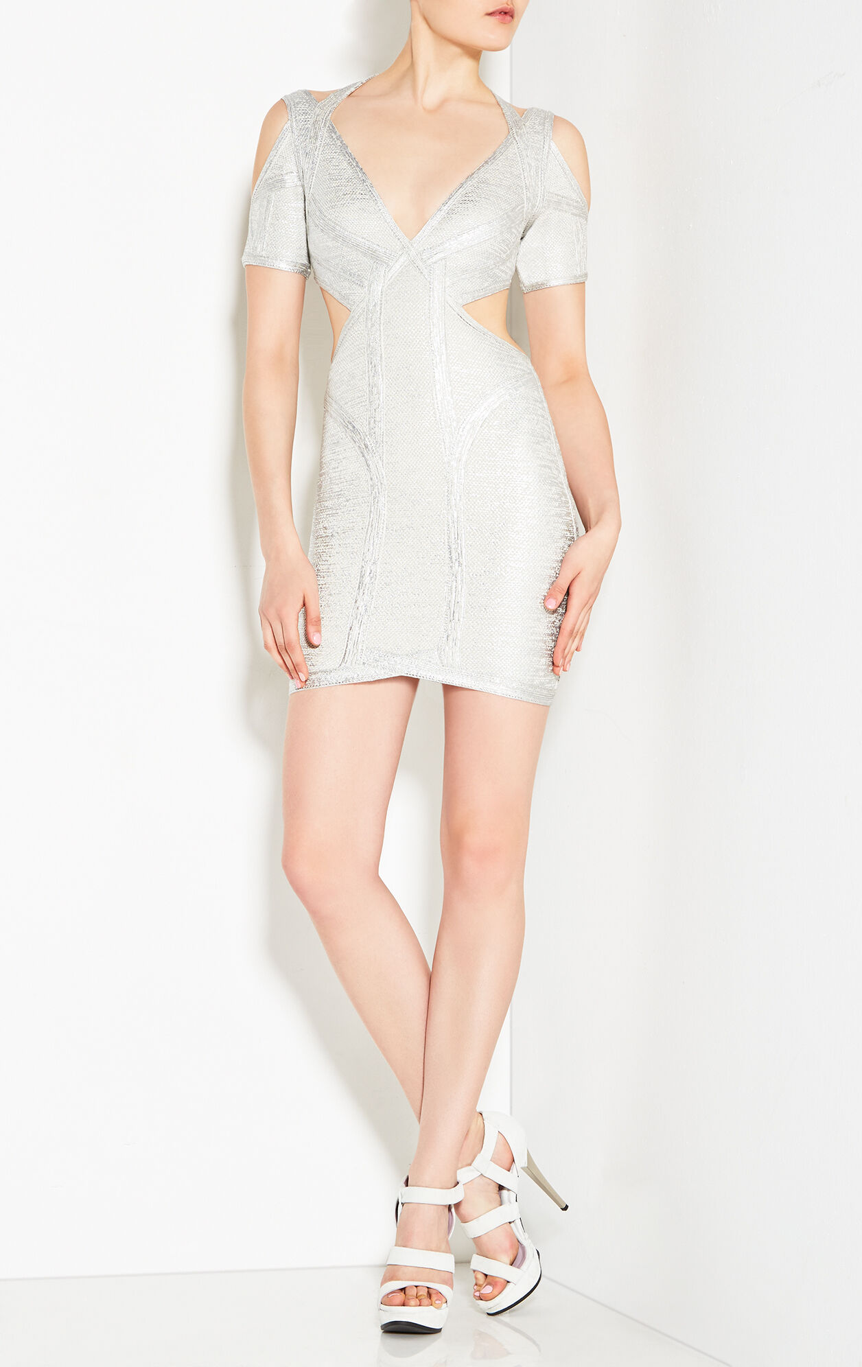 Desiree Foil Crochet Jacquard Dress