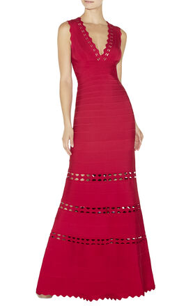 Lillian Cutout Bandage Gown
