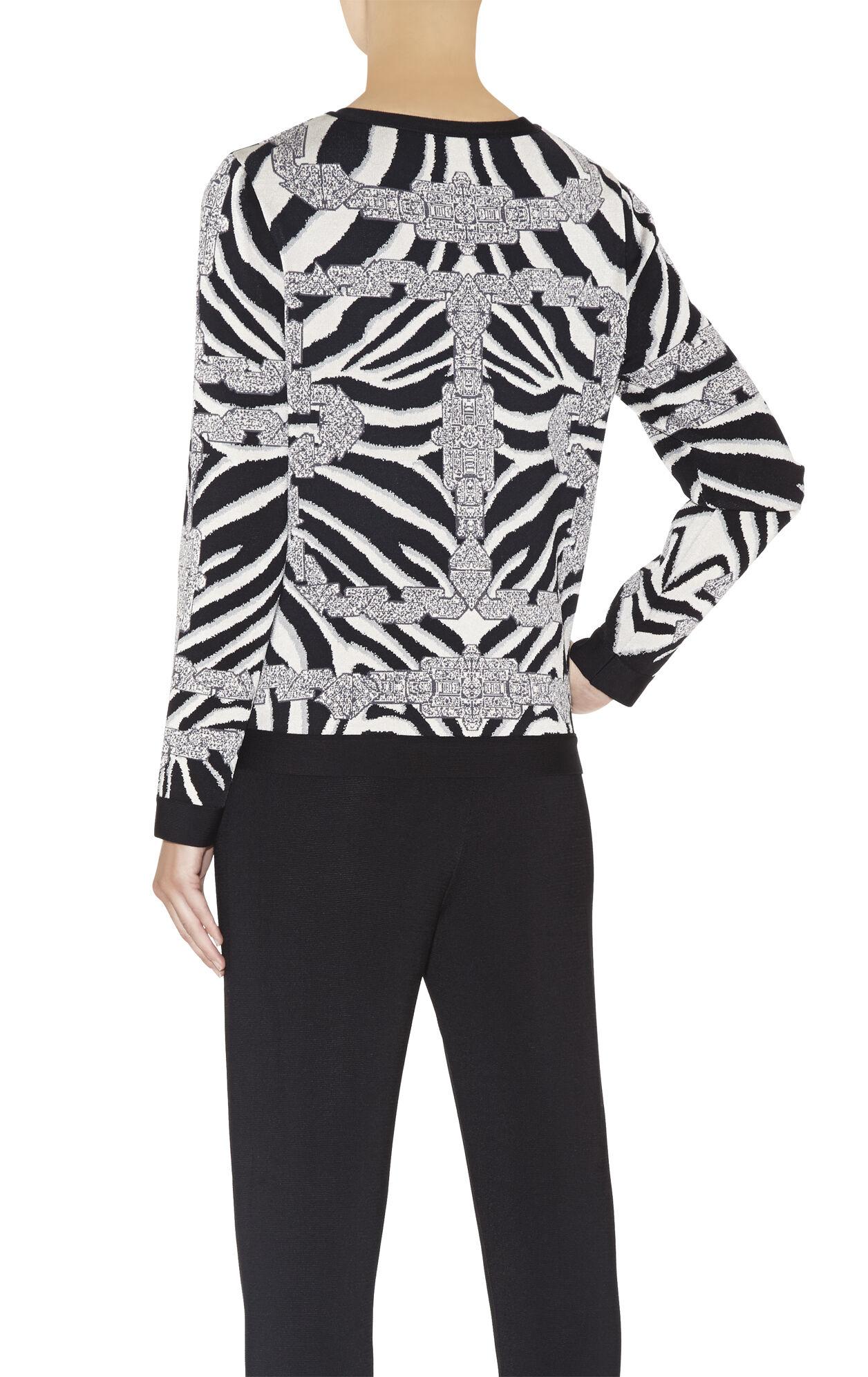 Ronja Chain Detail Zebra Jacquard Top