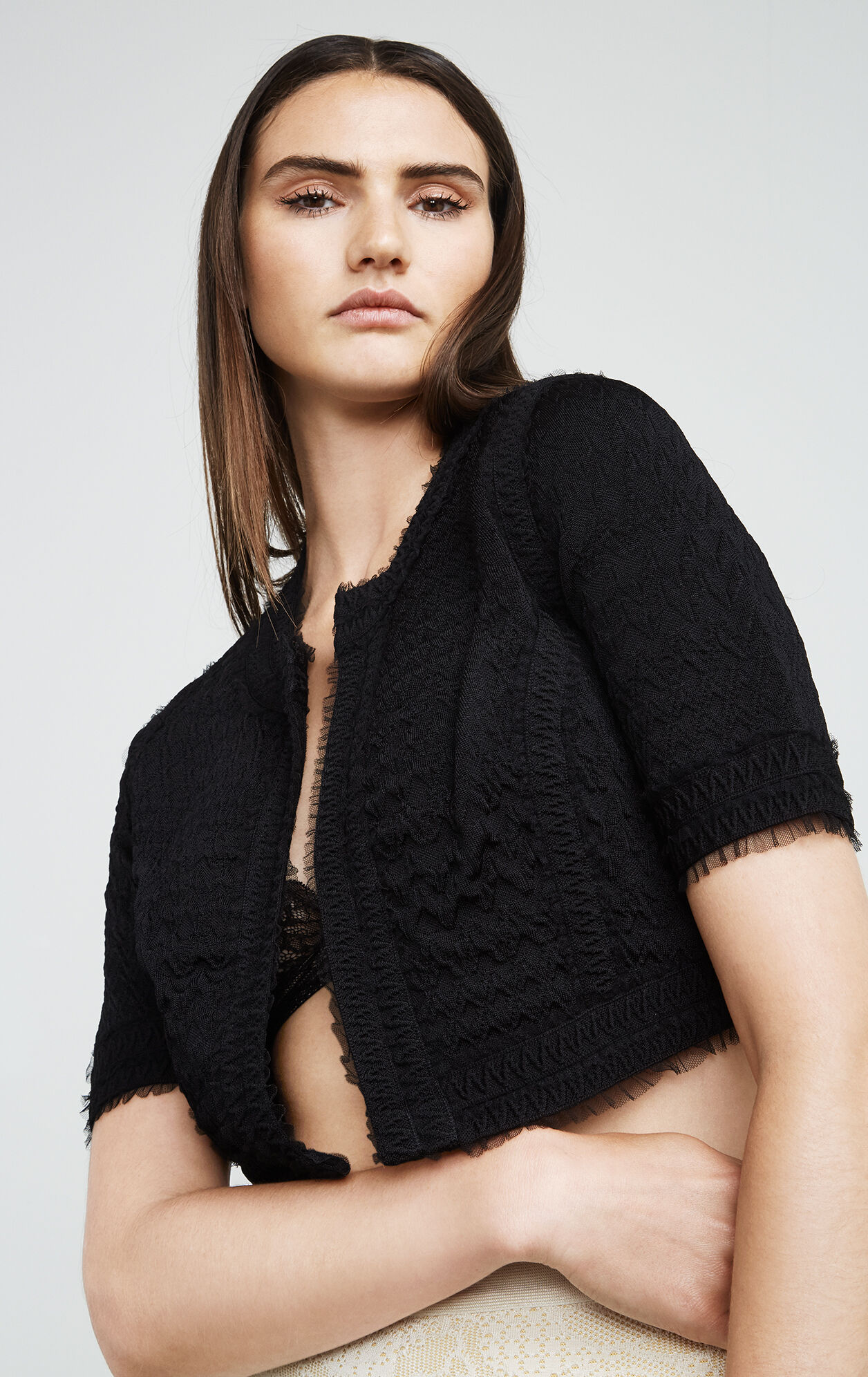 Alise Zigzag Tulle Cover-Up