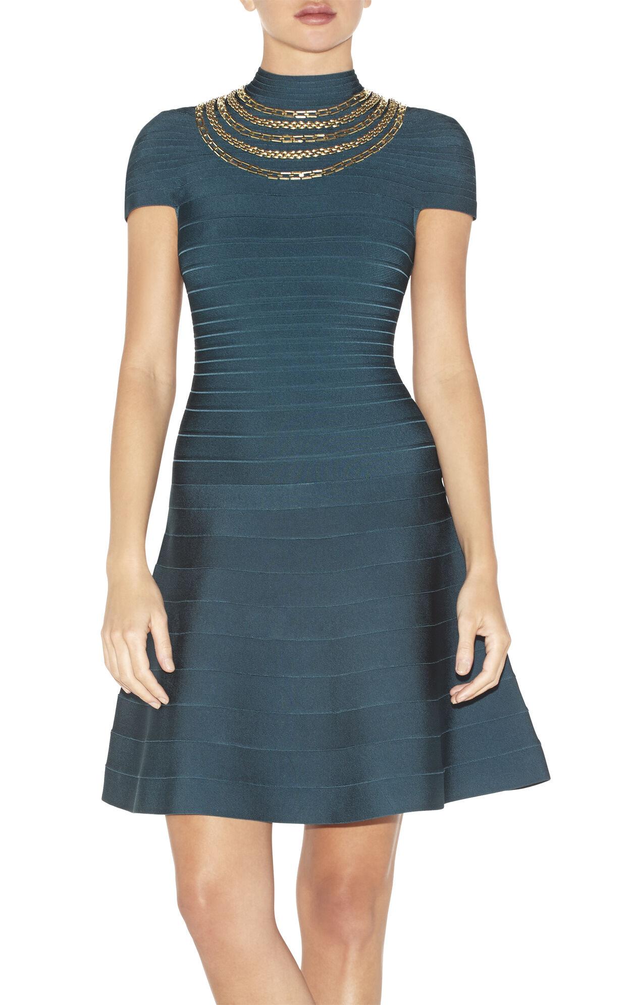 Tereza Chain-Detailed Beaded Dress