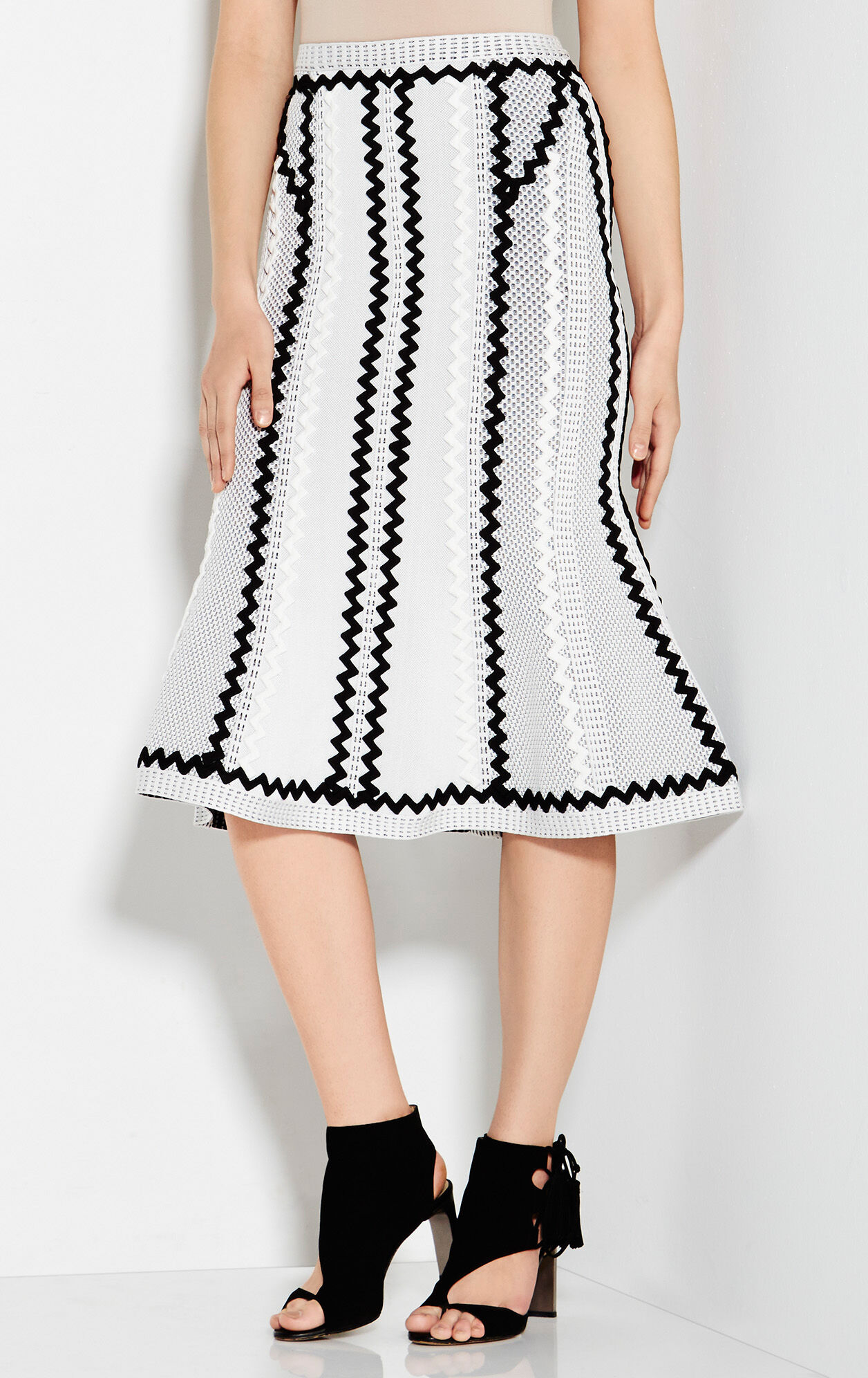 Blanka Pointelle Zigzag Applique Skirt