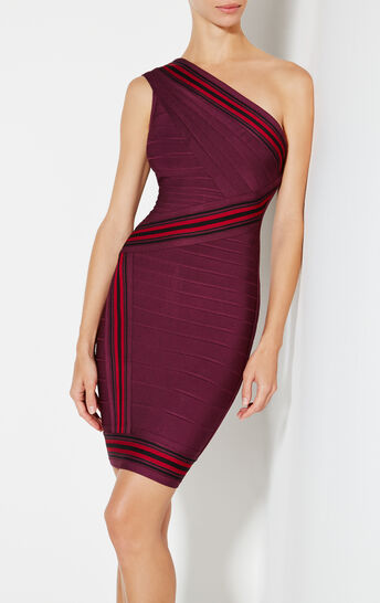 Kayla Jacquard Stripe Detail Dress