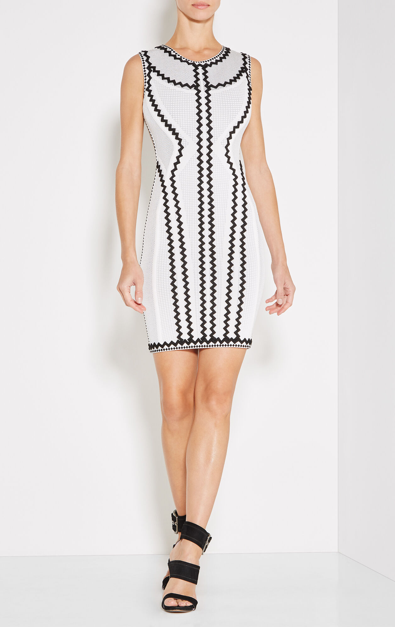 Imaan Zigzag Pointelle Knit Dress