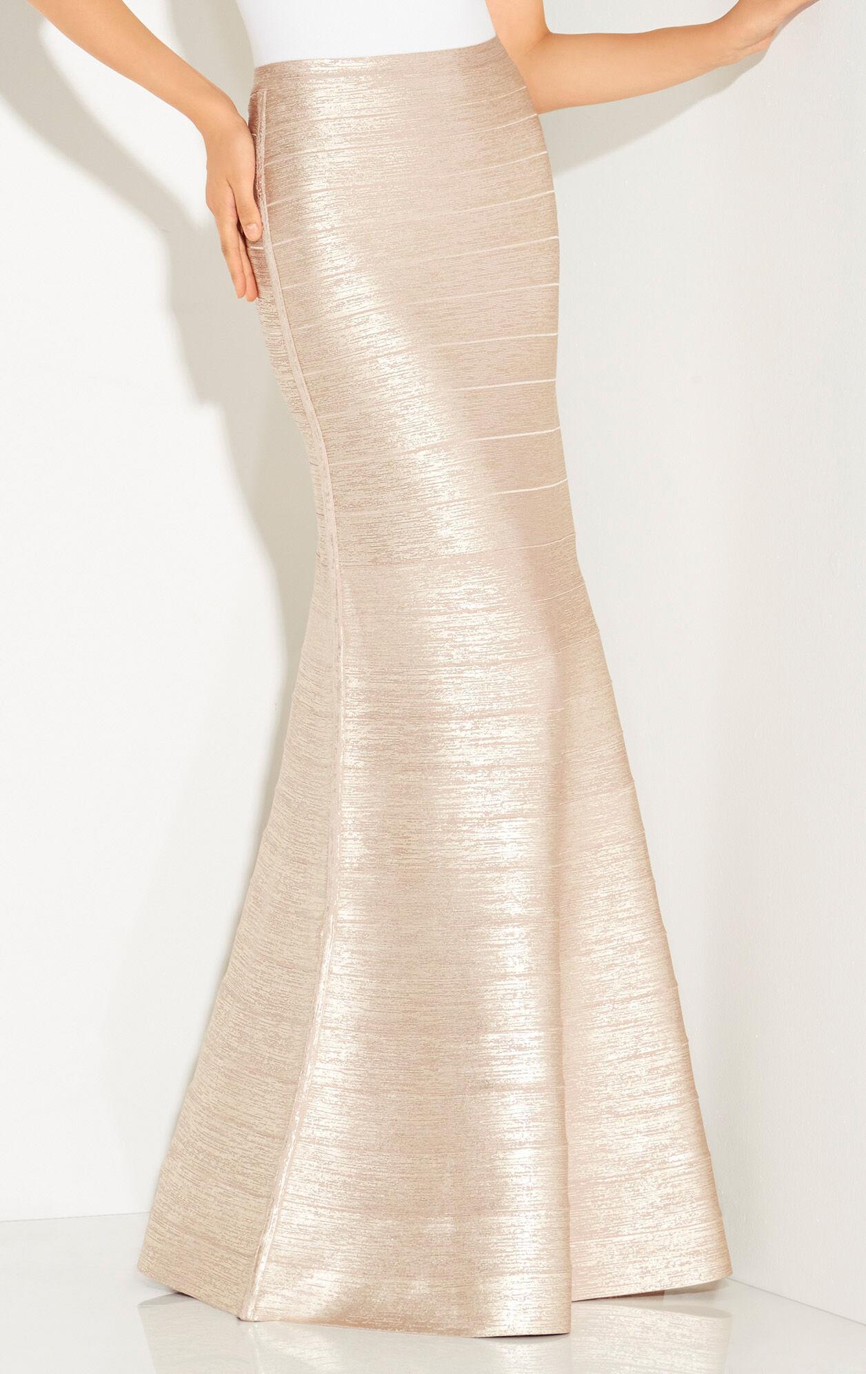 Juliena Metallic Foil Skirt