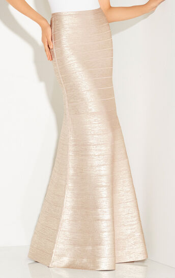Juliena Metallic Foil Skirt