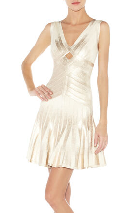 Lia Foiled Bandage Dress