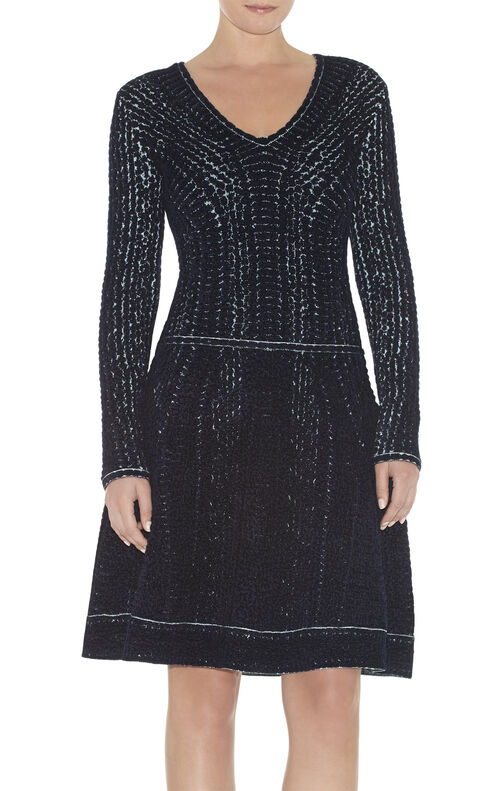 Jaye Chenille Snake Jacquard Dress