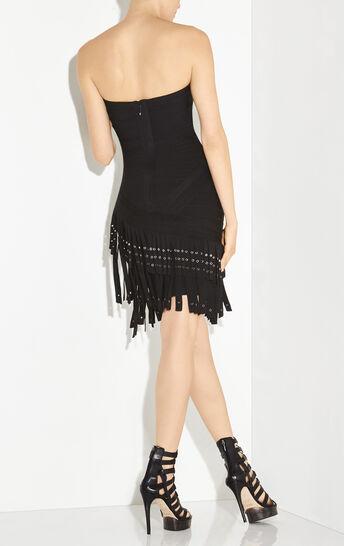 Belina Fringe Metal Eyelet Dress
