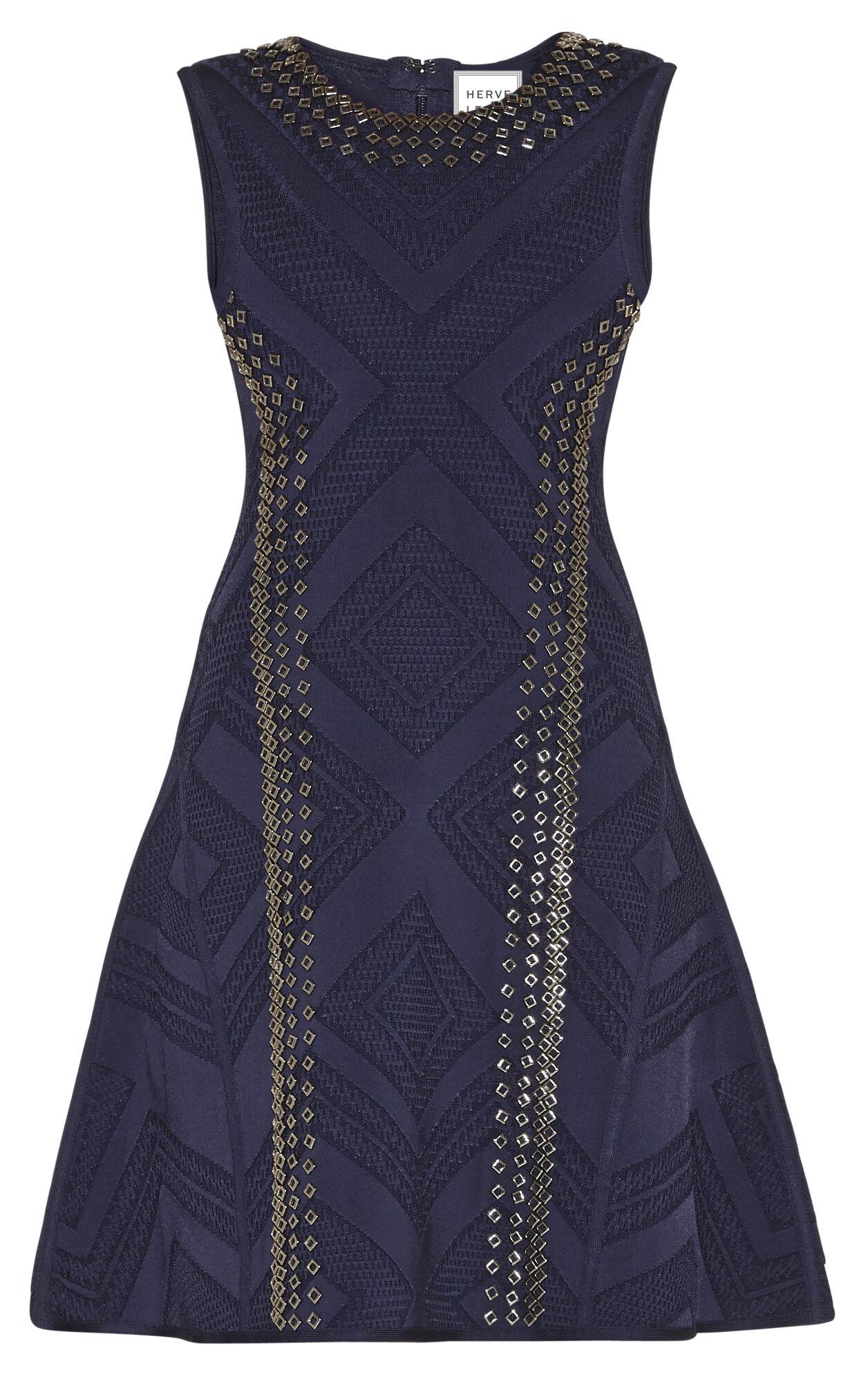 Jaclyn Engineered Textured Beading Dress