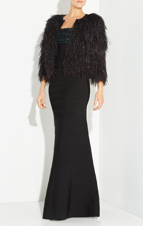 Angelika Ostrich Feather Jacket