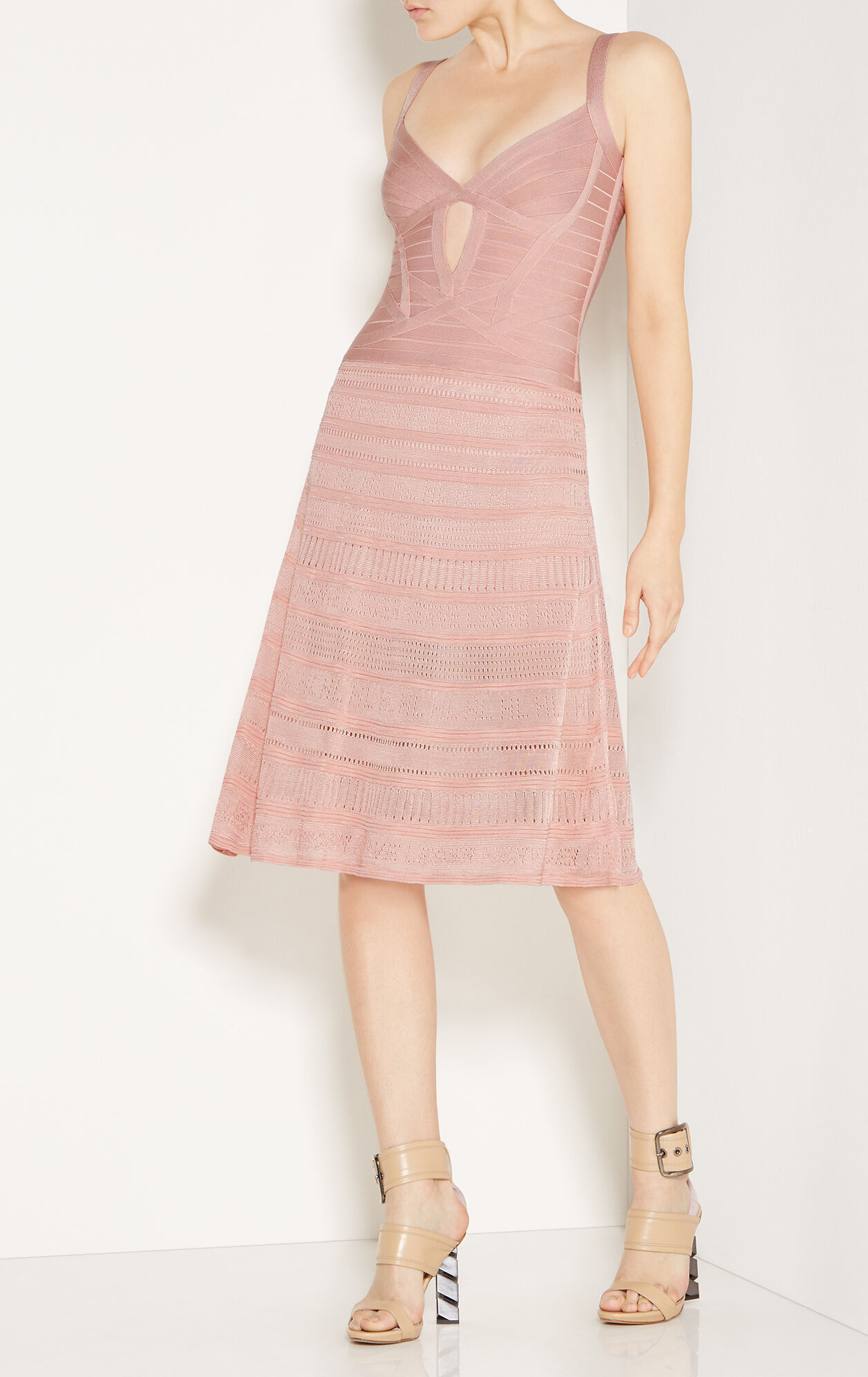 Meloddie Pointelle-Trim Bandage Dress