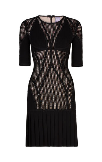 Kristin Plaited Mesh Ring Detail Dress