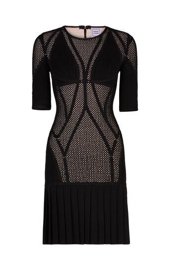 Kristin Plaited Mesh Ring Detail Dress