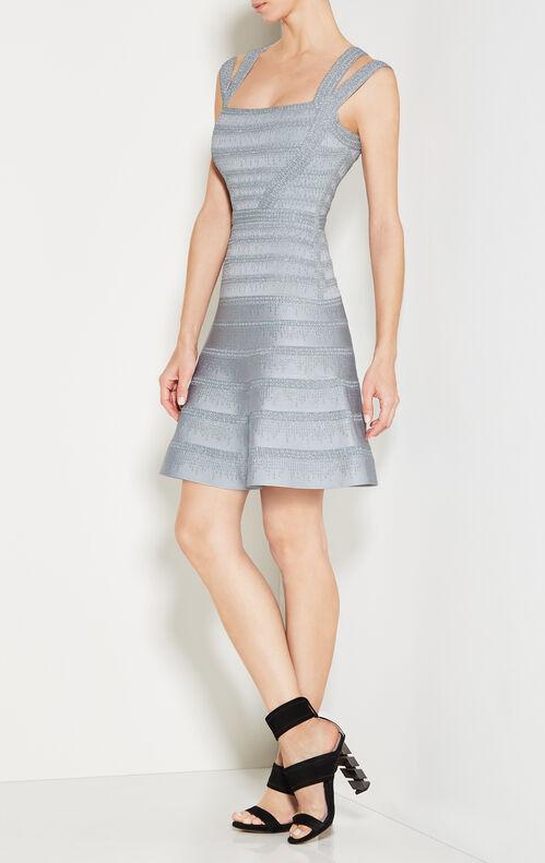 Carole Metallic Crochet Dress