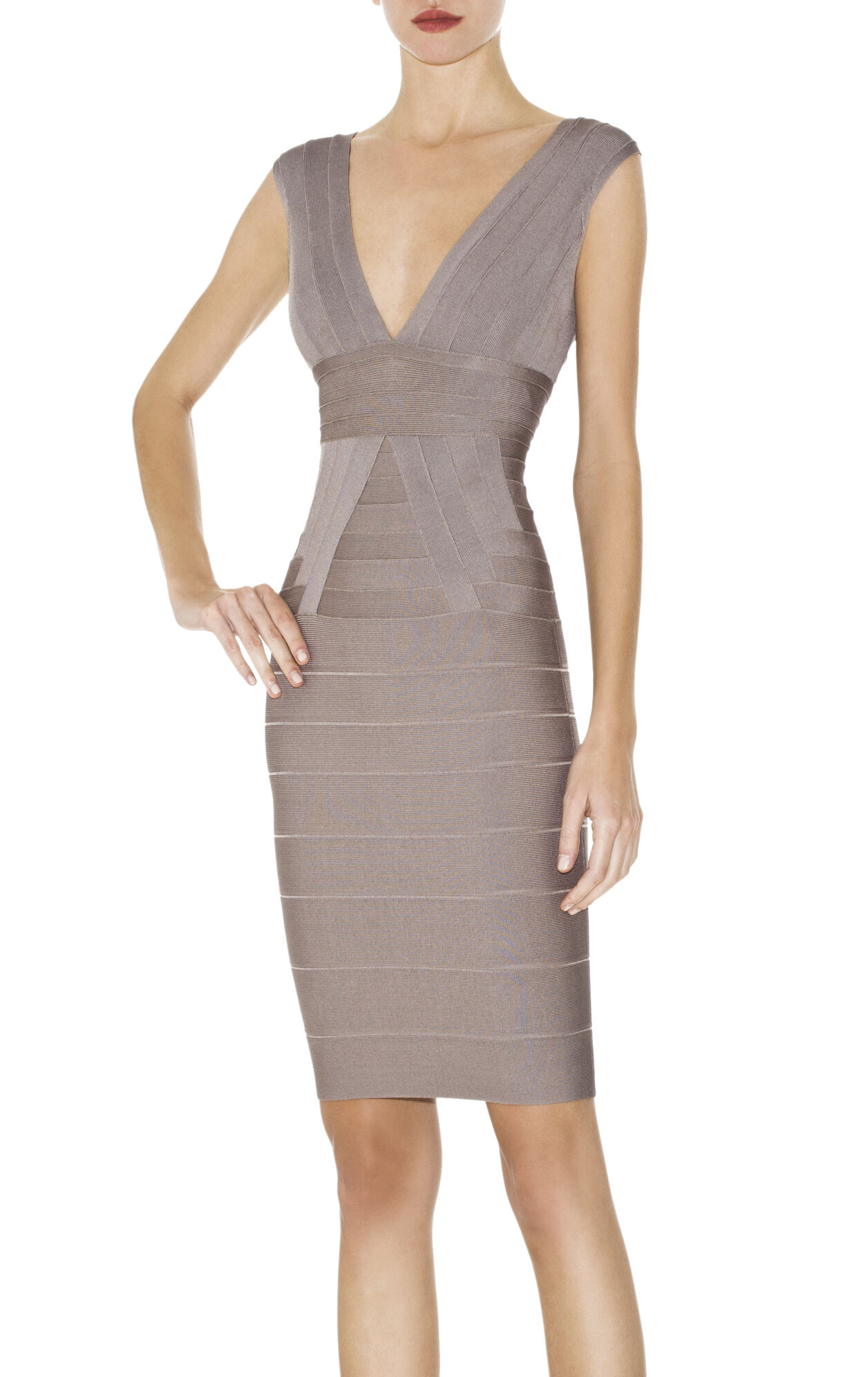 MARTINA V-NECK BANDAGE DRESS