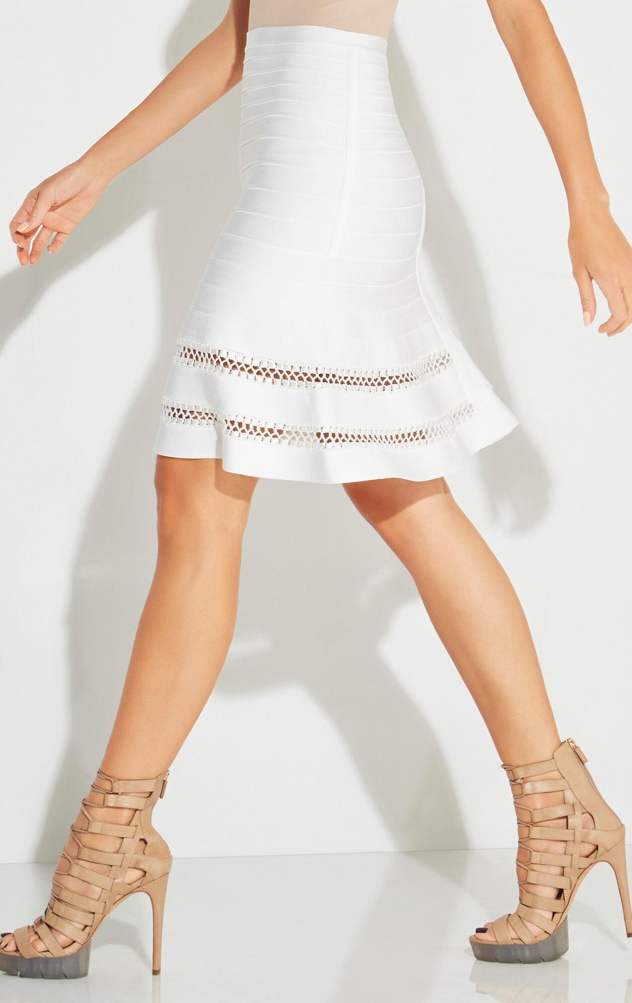 Amelie Crochet Cage Stitch Skirt