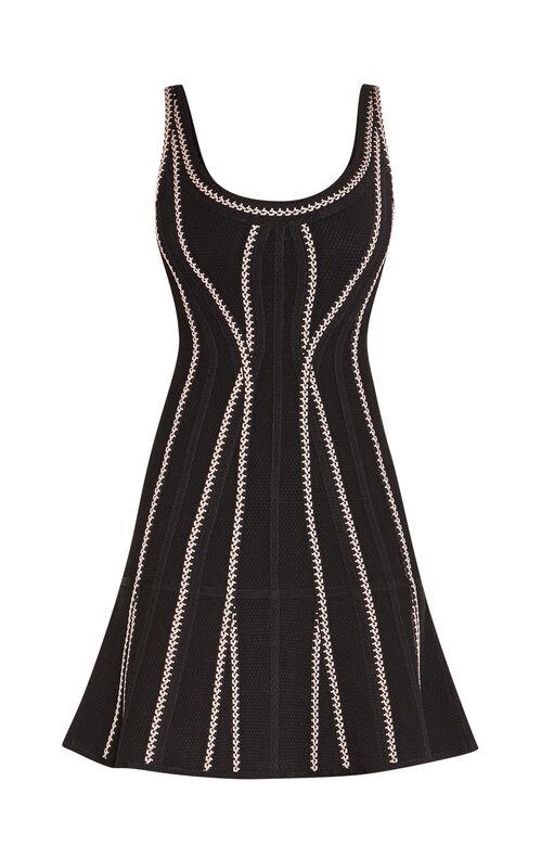 Micca Texture Bandage Flute Dress