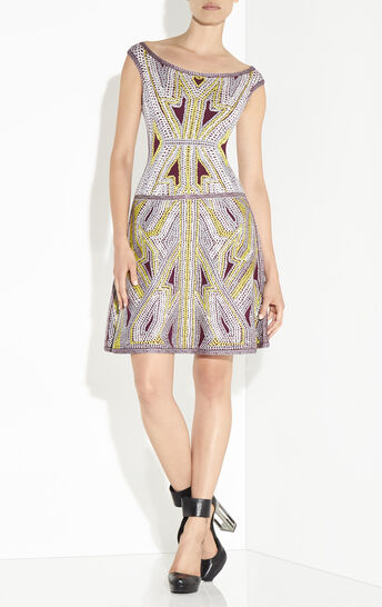 Mila Geometric Crochet Jacquard Dress