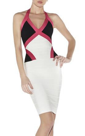 Andie Colorblocked Bandage Dress