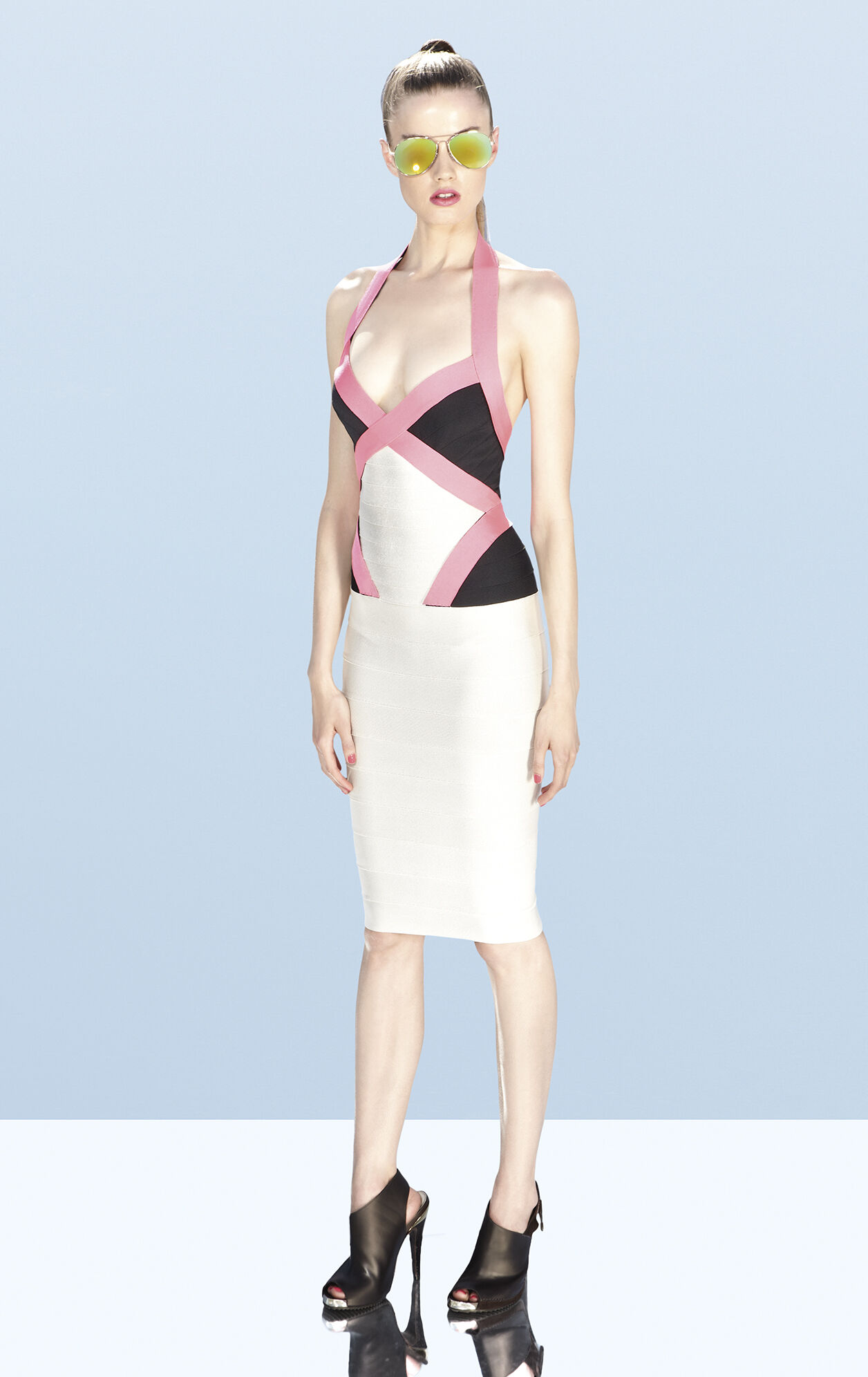 Andie Colorblocked Bandage Dress