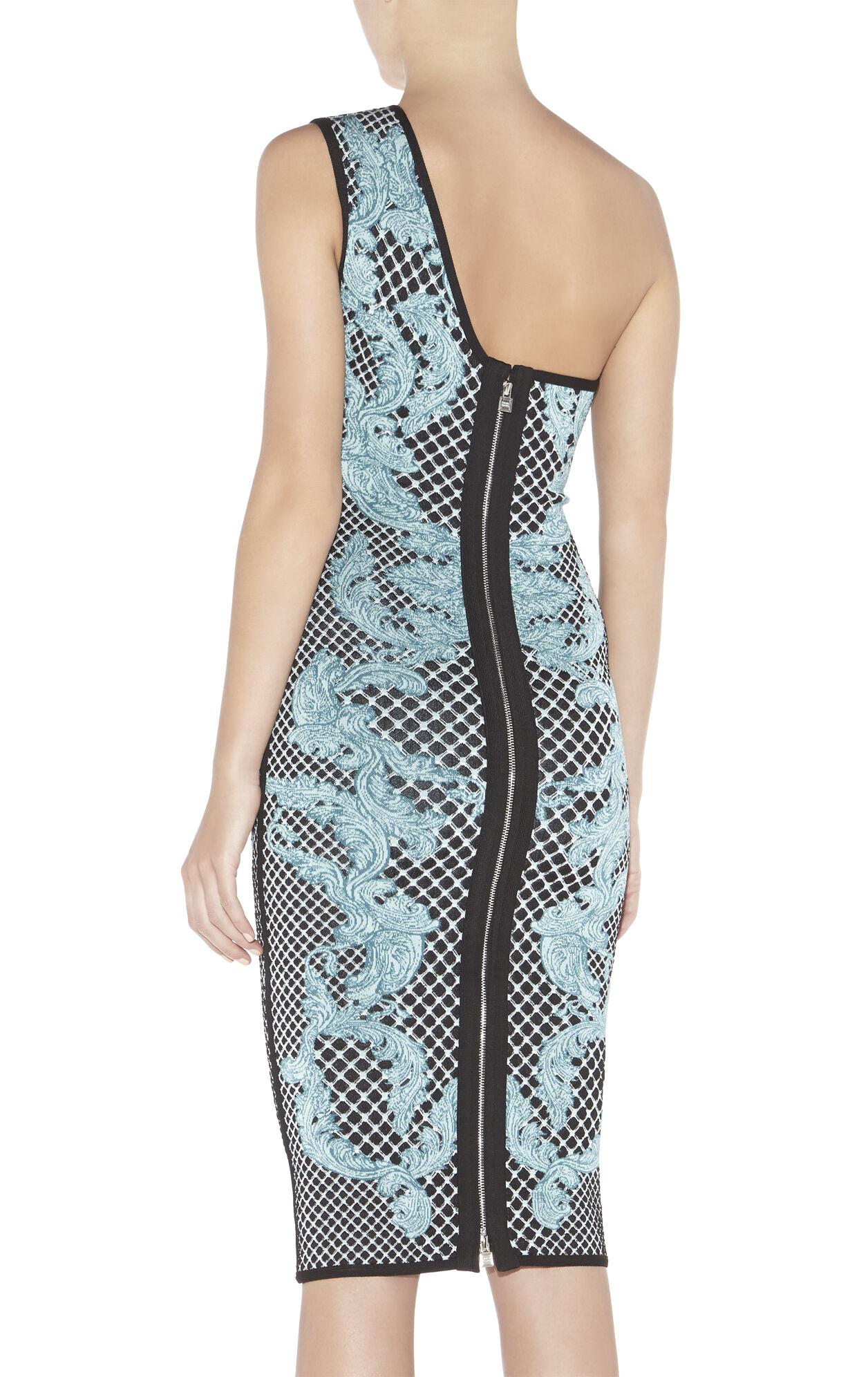 Victoria HL Monogram Crescent Jacquard Dress