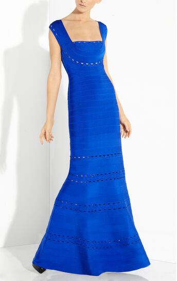 Georgianna Scallop Embroidered Gown