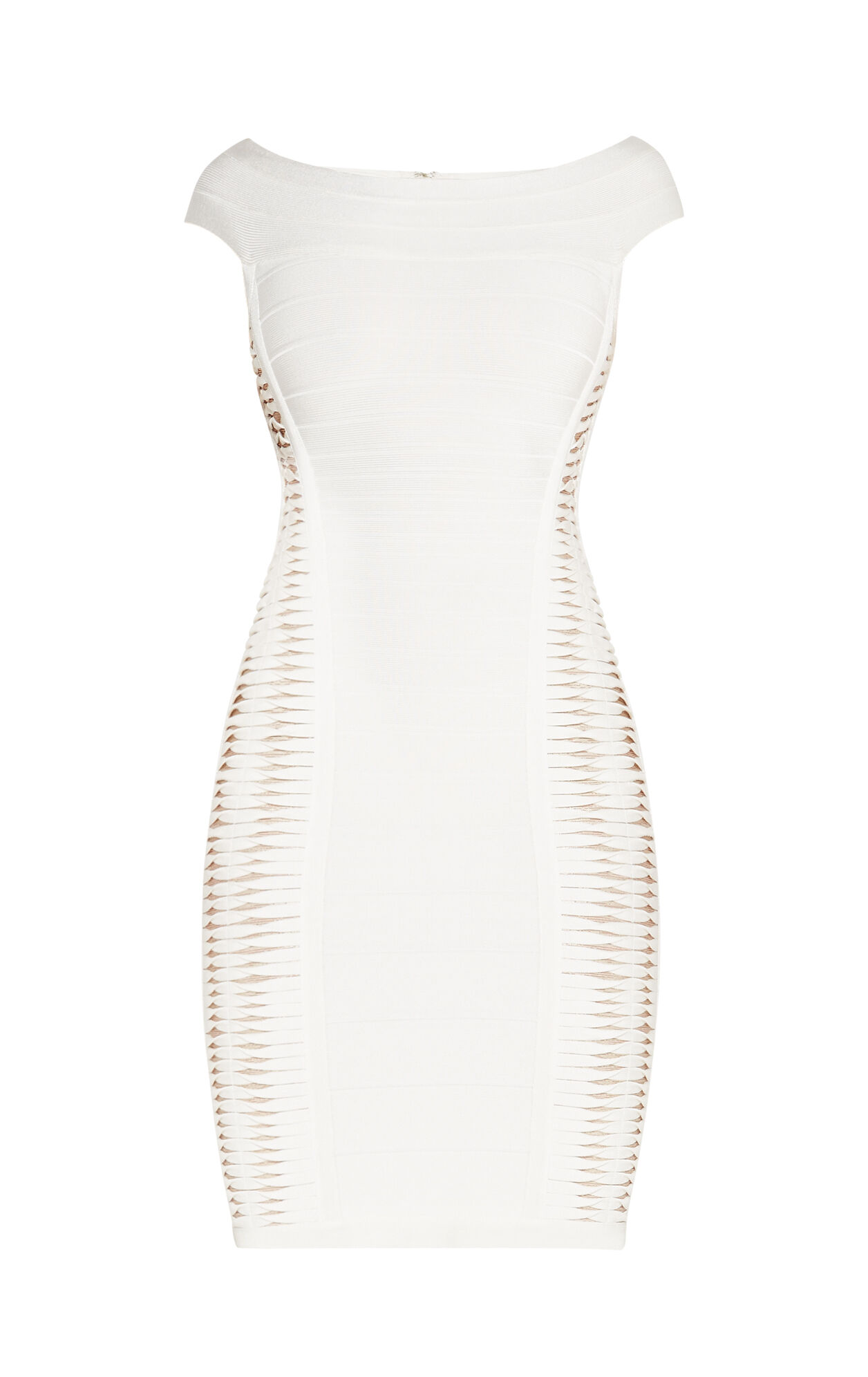 Alyson Metallic Twist Bandage Dress