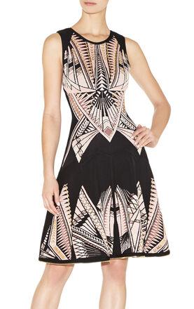 Polina Tattoo-Jacquard Dress