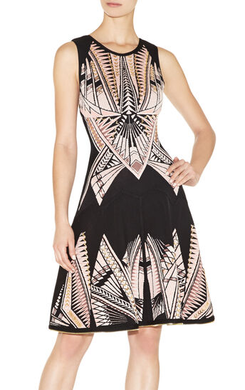 Polina Tattoo-Jacquard Dress