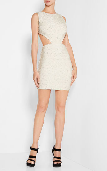 Isla Allover Beading Pearls Dress
