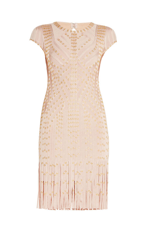 Haylee Eyelet Fringe Dress