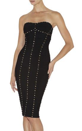 Morgane Studded-Detail Dress