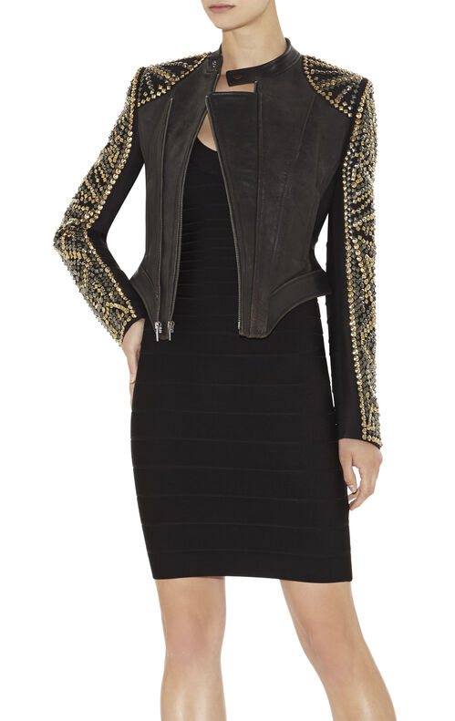 Devon Studded Leather Jacket