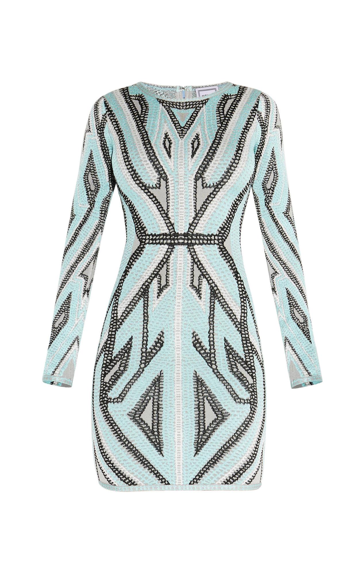 Agne Geometric Jacquard Dress