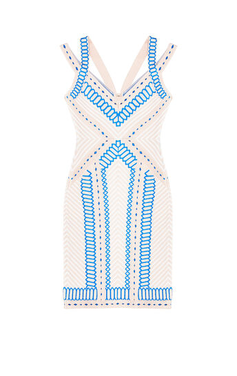 Sienna Geometric Raised Jacquard Dress