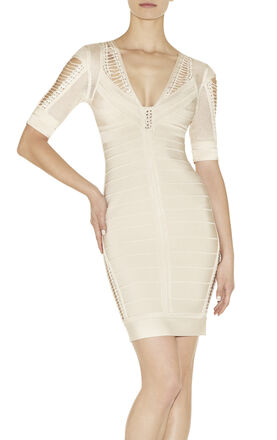 Juliana Pointelle Bandage Dress