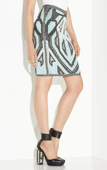 Ola Geometric Jacquard Skirt