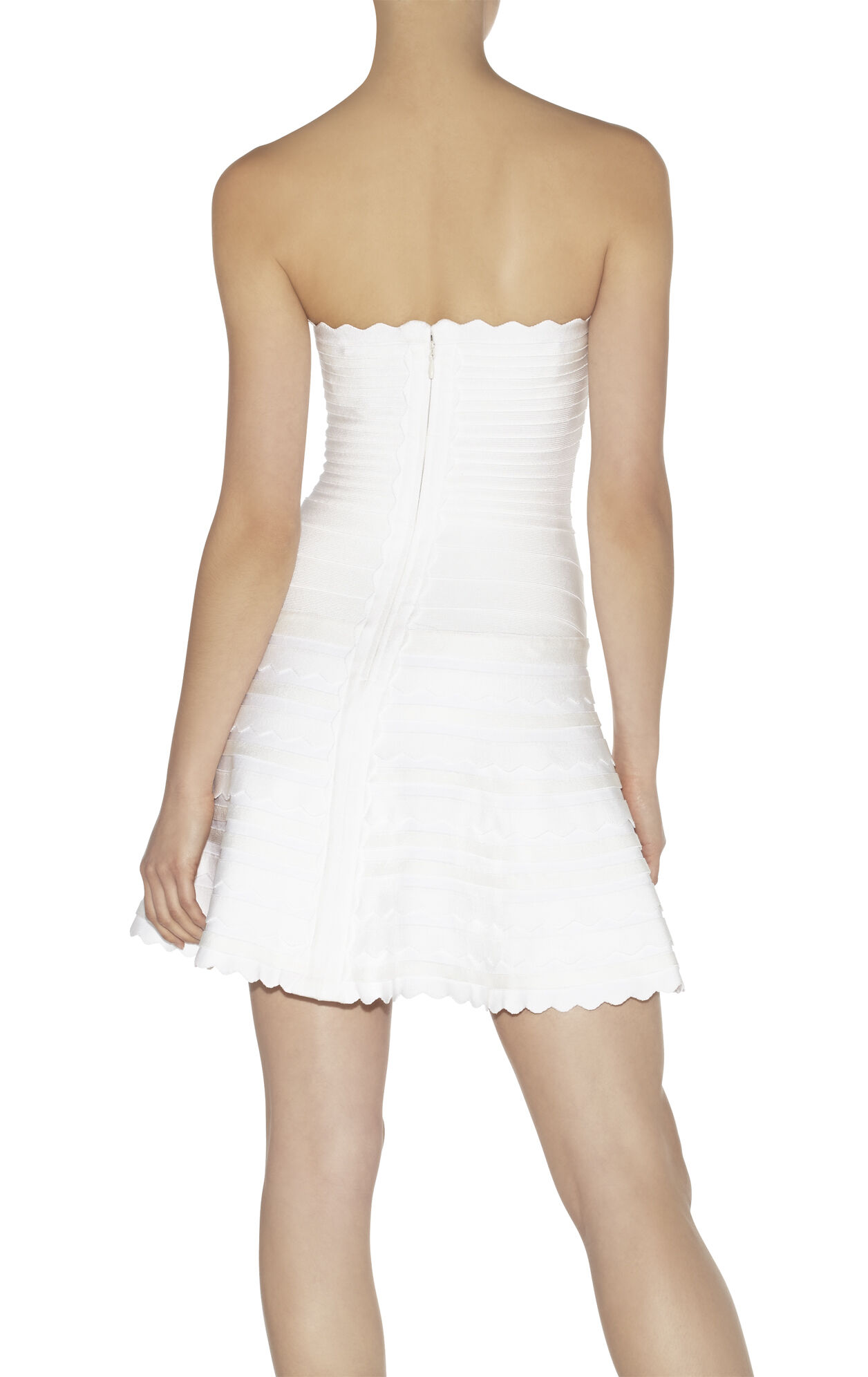 Phoebe Scalloped-Edge A-Line Bandage Dress