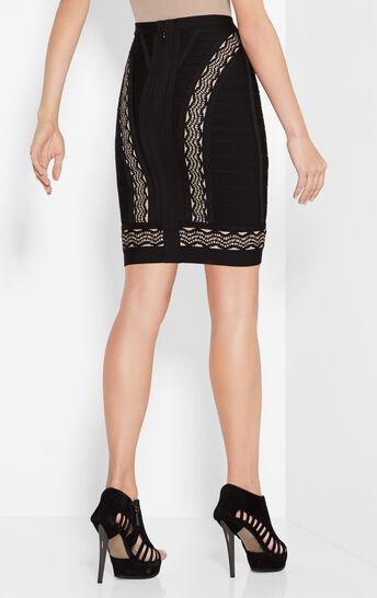 Lainie Crochet Jacquard Cutouts Skirt