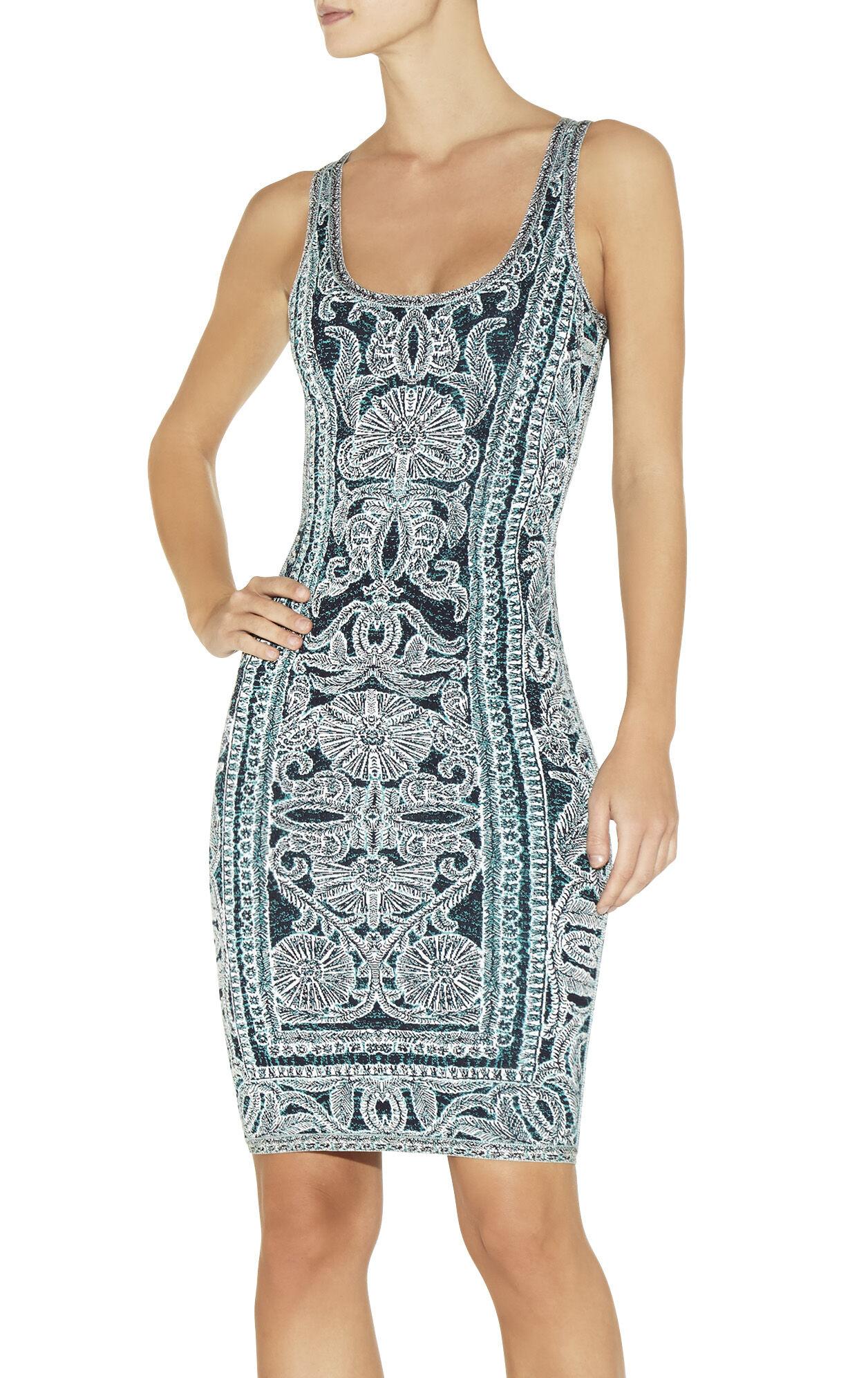 Farah Bohemian Floral Jacquard Dress