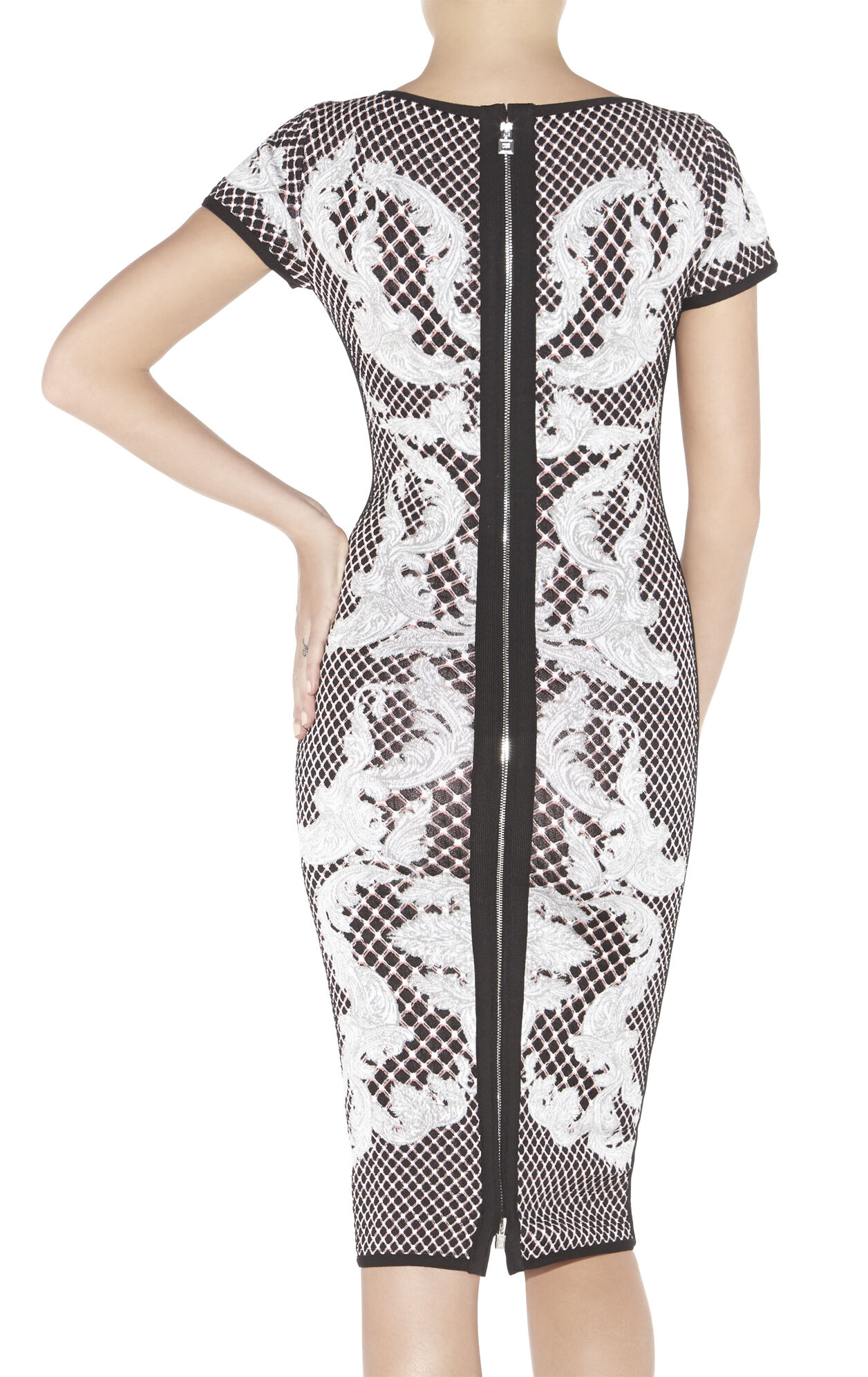 Emely HL Monogram Crescent Jacquard Dress