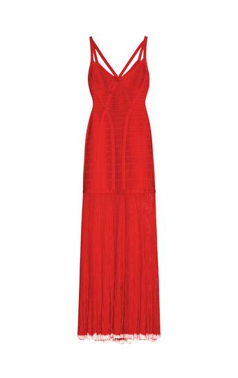 Zhenya Pointelle Trim Bandage Gown