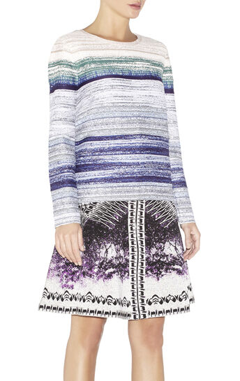Ane Watercolor Jacquard Ombre Top