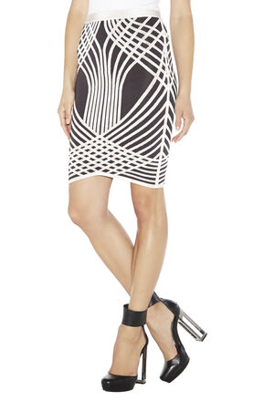 Keana Optic-Crisscross Jacquard Skirt
