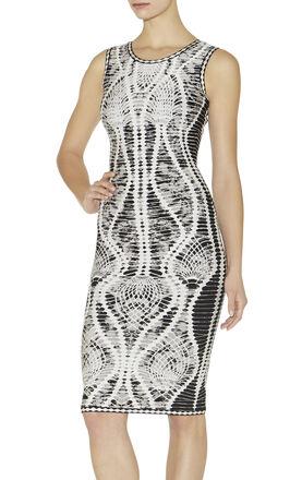 Elizabeth Crochet Jacquard Dress