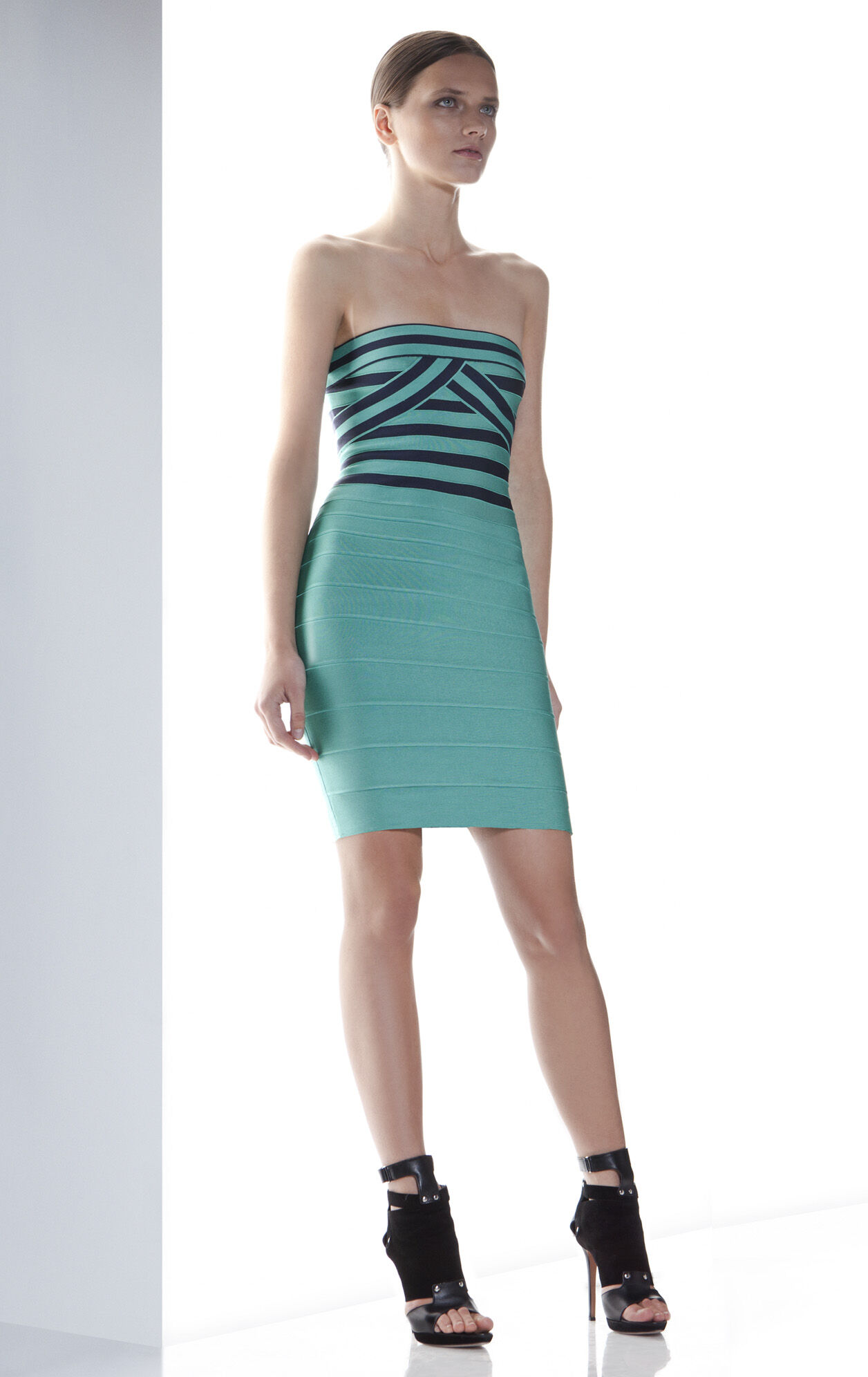 OLIMPIA JACQUARD STRIPE DRESS