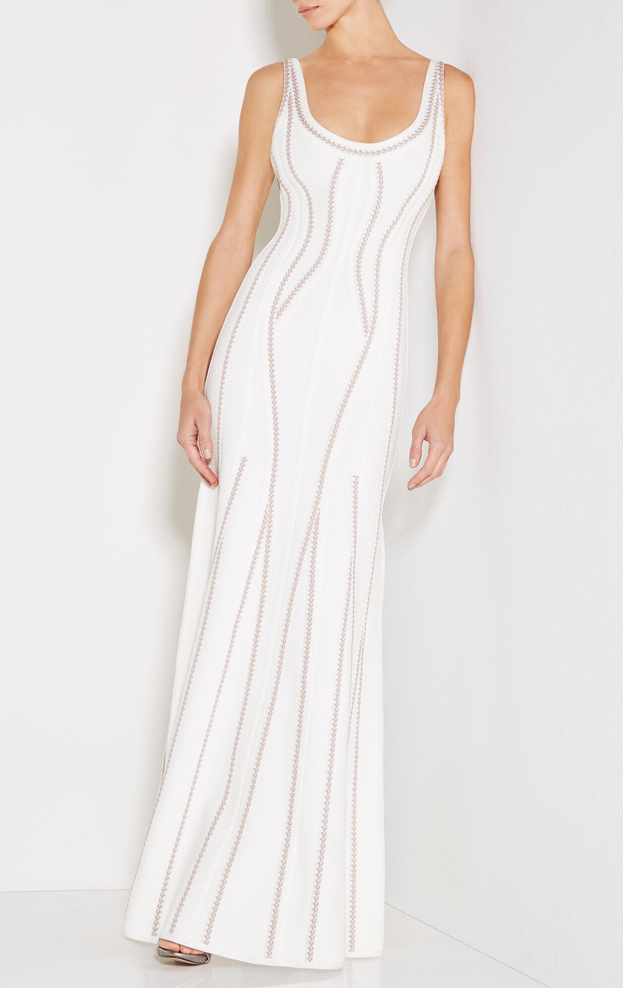 Luisana Texture Bandage Mermaid Gown